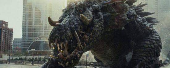 Дуэйн джонсон и монстро-кадры из фильма рэмпейдж
